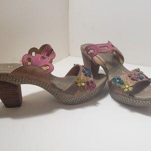 """Spring Step """"Calla"""" Floral Backless Sandal"""